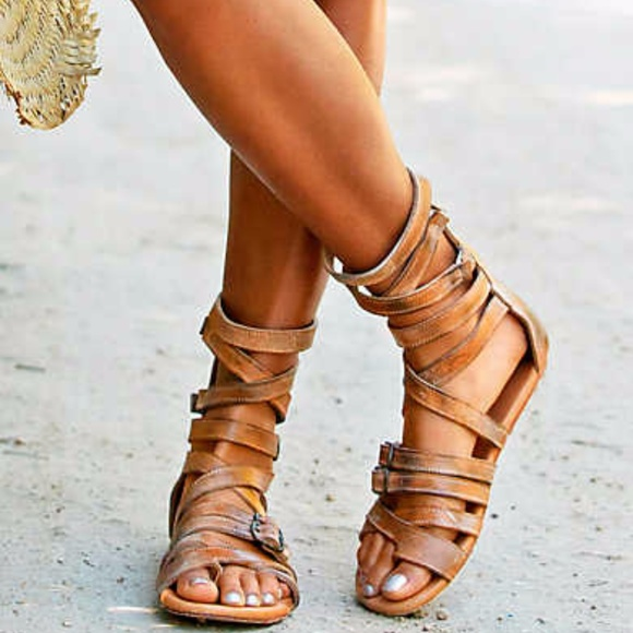 Bed Stu Seneca Gladiator Flat Leather Sandals dtJUH